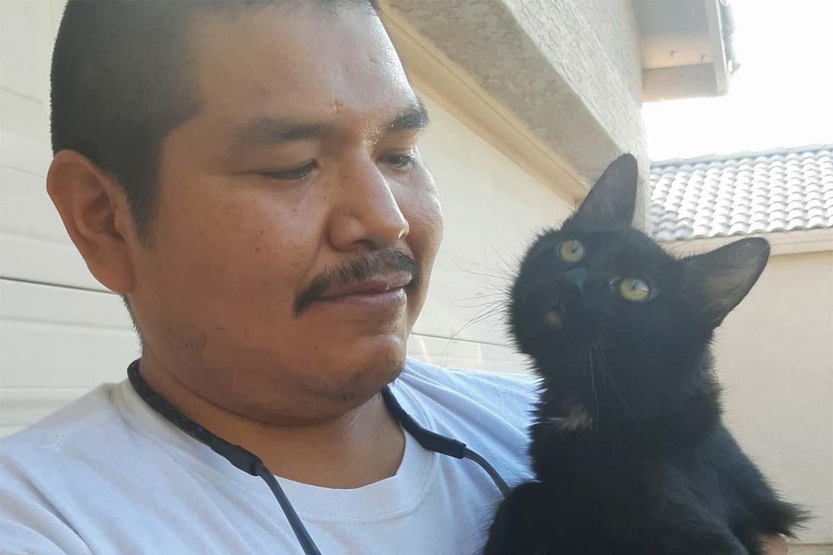 oskar with dad